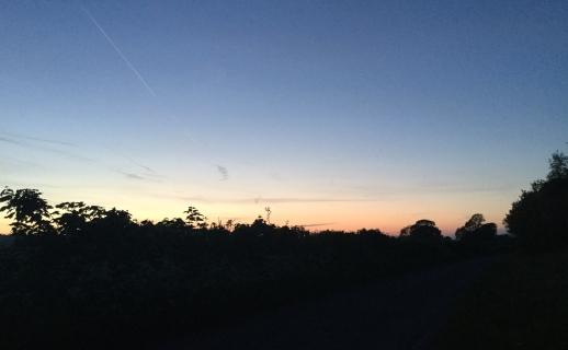 The sun exits